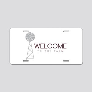 Farm Welcome Aluminum License Plate