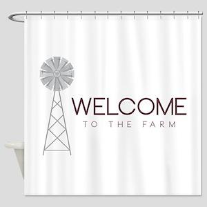 Farm Welcome Shower Curtain