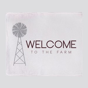 Farm Welcome Throw Blanket