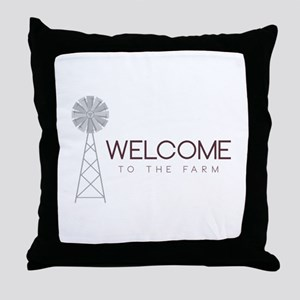 Farm Welcome Throw Pillow