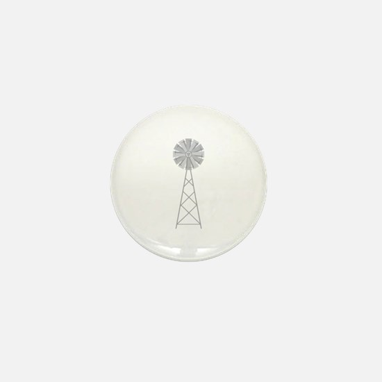 Farm Windmill Mini Button