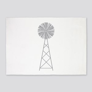 Farm Windmill 5'x7'Area Rug
