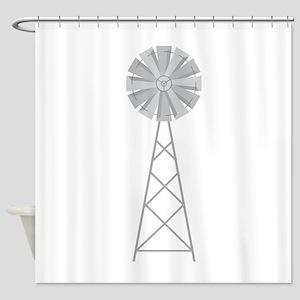 Farm Windmill Shower Curtain