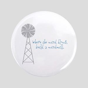 "Wind Blows Windmill 3.5"" Button"