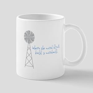 Wind Blows Windmill Mugs