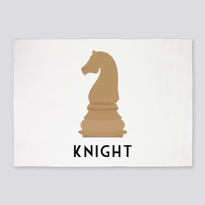 Chess Knight 5'x7'Area Rug