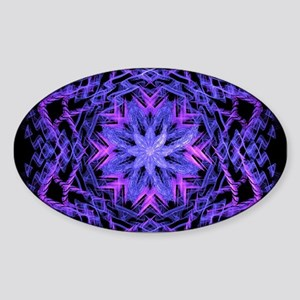 Pretty Purple Fractal Sticker
