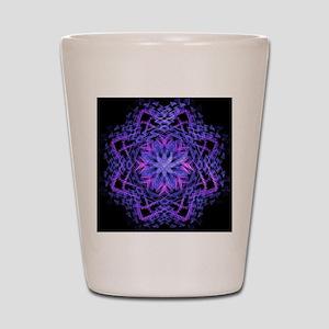Pretty Purple Fractal Shot Glass