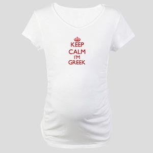 Keep Calm I'm Greek Maternity T-Shirt
