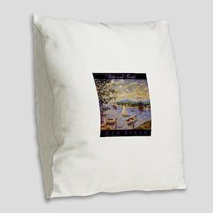 Impressionism Burlap Throw Pillow