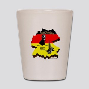 Pershing In Germany Shot Glass