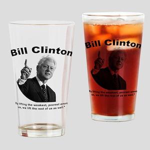 Clinton: Aid Drinking Glass