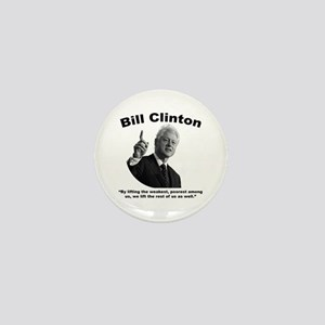 Clinton: Aid Mini Button
