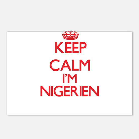 Keep Calm I'm Nigerien Postcards (Package of 8)