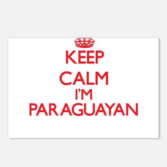 Keep Calm I'm Paraguayan Postcards (Package of 8)