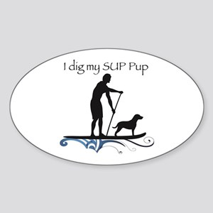 SUP PUP guy Sticker