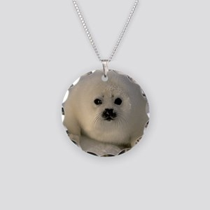 Baby Seal Necklace Circle Charm
