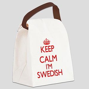 Keep Calm I'm Swedish Canvas Lunch Bag