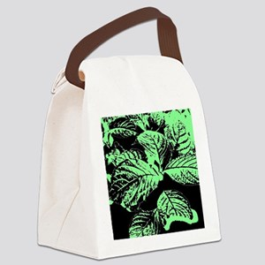 Leaves In Shadow Canvas Lunch Bag