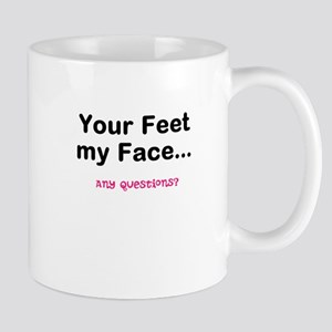 Feet/Face pink Mugs
