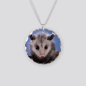 Cute Opossum Necklace Circle Charm