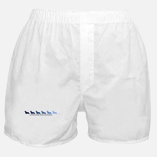 Longhair Dachshund (blue colo Boxer Shorts