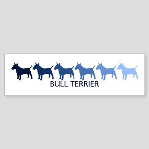 Bull Terrier (blue color spec Bumper Sticker