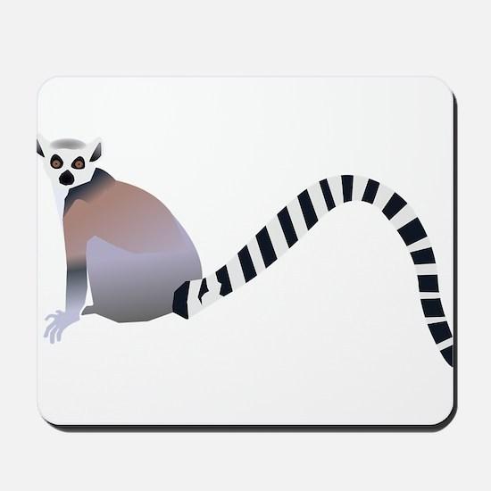 Cartoon Ring-Tail Lemur Mousepad