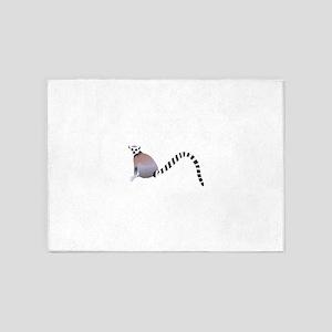 Cartoon Ring-Tail Lemur 5'x7'Area Rug