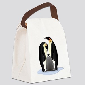 Penguin Family Canvas Lunch Bag