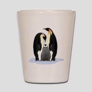 Penguin Family Shot Glass