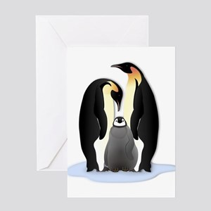 Penguin Family Greeting Cards