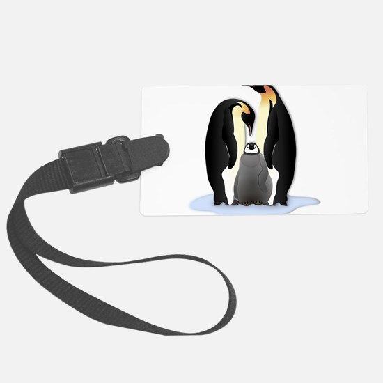 Penguin Family Large Luggage Tag