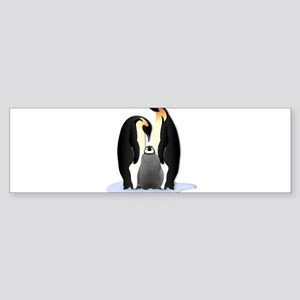 Penguin Family Bumper Sticker