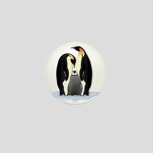 Penguin Family Mini Button