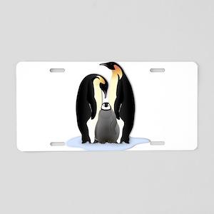 Penguin Family Aluminum License Plate