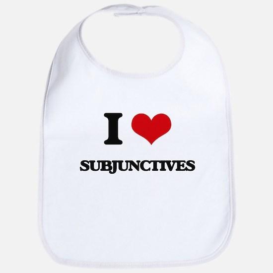 I love Subjunctives Bib