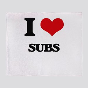 I love Subs Throw Blanket