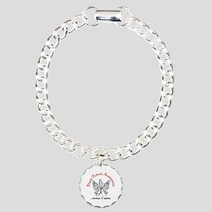 Brain Tumor Erfly 6 Charm Bracelet One