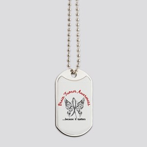 Brain Tumor Butterfly 6.1 Dog Tags