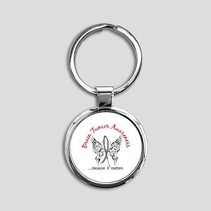 Brain Tumor Butterfly 6.1 Round Keychain