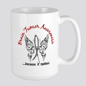 Brain Tumor Butterfly 6.1 Large Mug