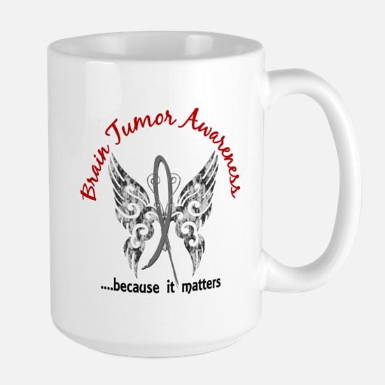 Brain Tumor Butterfly 6.1 Large Mug