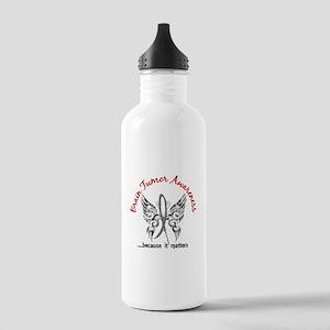 Brain Tumor Butterfly Stainless Water Bottle 1.0L