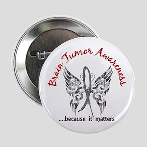 "Brain Tumor Butterfly 6.1 2.25"" Button"