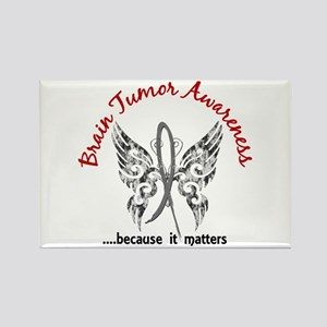 Brain Tumor Butterfly 6.1 Rectangle Magnet