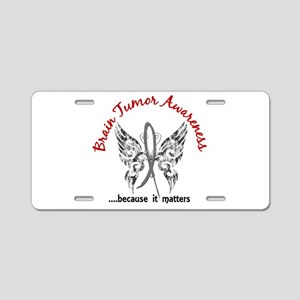Brain Tumor Butterfly 6.1 Aluminum License Plate