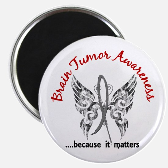 """Brain Tumor Butterfly 6.1 2.25"""" Magnet (100 pack)"""