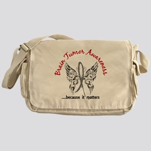 Brain Tumor Butterfly 6.1 Messenger Bag