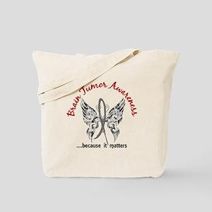 Brain Tumor Butterfly 6.1 Tote Bag